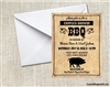 Bridal Shower Invitation - Couples BBQ