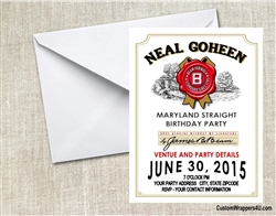 Jim Beam Bourbon Birthday Party Invitation