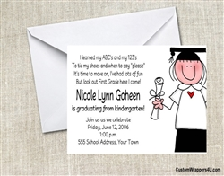 Graduation Announcement / Invitation - Child & Diploma