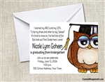 Graduation Announcement / Invitation - Owl