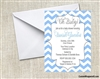 Baby Shower Invitation - Chevron