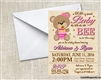 Honey Bear and Bees Baby Shower Invitation