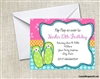 Birthday Invitation - Flip Flops