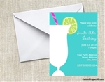21st birthday cocktail invitation