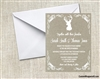 Wedding Invitation - Deer Head