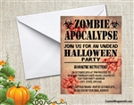 Halloween Invitation - Zombie Apocalypse 2