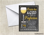 Aged to Perfection Wine Birthday Party Invitation