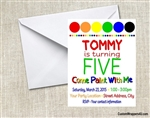 painting birthday party invitation art party