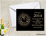 New Year's Eve Invitation - Clock
