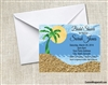 Bridal Shower Invitation - Palm Tree Ocean