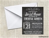 Bridal Shower Invitation - Chalkboard