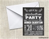 Graduation Announcement / Invitation - Chalkboard