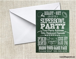 Super Bowl Invitation - Chalkboard