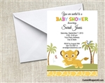 Baby Shower Invitation - Lion King