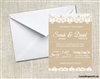 Wedding Invitation - Burlap and Lace