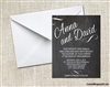 Wedding Invitation - Chalkboard