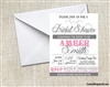 Bridal Shower Invitation - Pink and Grey