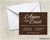 Wedding Invitation - Wood Grain