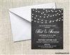 Rehearsal Invitation - String Lights