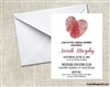 Bridal Shower Invitation - Fingerprints