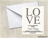Bridal Shower Invitation - LOVE