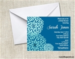Bridal Shower Invitation - Dehlia Blue