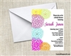 Bridal Shower Invitation - Dehlia Coloful