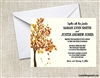 Wedding Invitation - Fall Tree