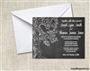Wedding Invitation - Tree Chalkboard Background