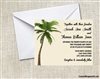 Wedding Invitation - Palm Tree Single
