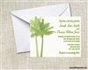 Wedding Invitation - Palm Tree Double