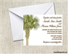 Wedding Invitation - Palm Tree
