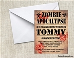 Birthday Invitation - Zombie Apocalypse 1