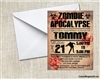 Birthday Invitation - Zombie Apocalypse 2