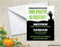 Halloween Invitation - Zombie Apocalypse 3