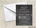 Bridal Shower Invitation - Chalkboard 2