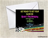 Birthday Invitation - Glow 1