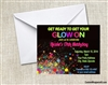 Glow in the Dark Black Light Party Invitation