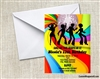 70s theme disco birthday party invitation