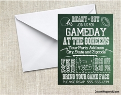Football Invitation - Game Day