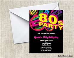 Birthday Invitation - 80s