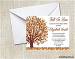 Bridal Shower Invitation - Fall Tree