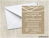 Wedding Invitation - Kraft String Lights