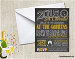 New Year's Eve Invitation - Chalkboard