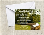 Wedding Invitation - Table in the Field