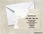 Wedding Invitation - Tree String Lights