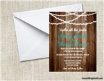 Wedding Invitation - Barn Lights