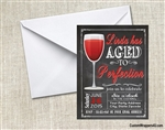 aged to perfection birthday invitation