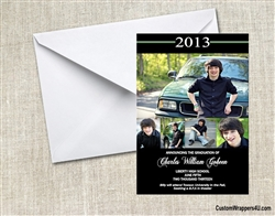 Graduation Announcement / Invitation - Photo 7 (color can be changed)