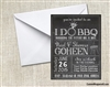 Wedding Engagement Party Invitation - I do BBQ Chalkboard